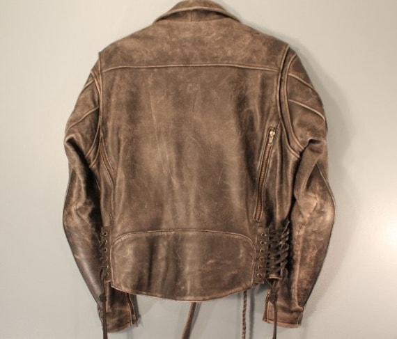 Attrezzi d'epoca prima di, Hein Gericke Inersport Fashions West, Inc armatura protettiva imbottita moto in pelle nera giacca taglia media