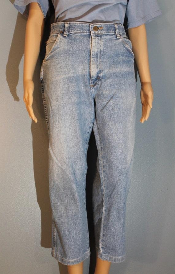 Vintage 1980s Wrangler 36x29 Denim Blue Jeans