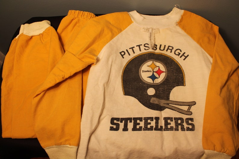 Top Vintage Handmade Pittsburgh Steelers Kids Two Piece Outfit | Etsy