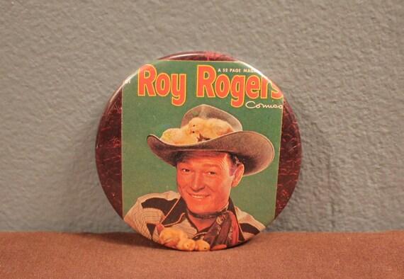 Vintage Roy Rogers Comics Collectors Green Pin Bac
