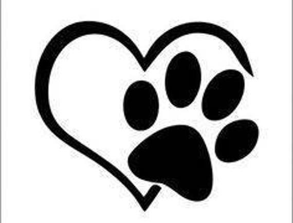 Hund Pfote Herz Aufkleber Yeti Auto Aufkleber Lkw Aufkleber Rtic Trommel Aufkleber Wasserflasche Aufkleber