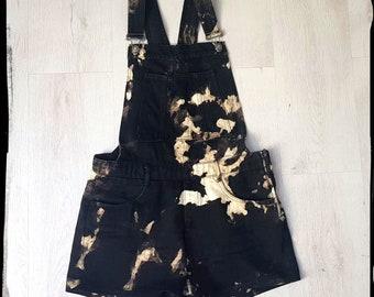 Korte Overalls vintage Shortalls beige broek jeans Romper   Etsy