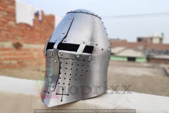 Medieval 14 Century Tofhelm Helmet For Buhurt & HMB Legal Combat Armour
