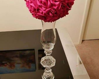 16\  Tall Vase Hurricanes Candle Holder Pedestal Vase Centerpiece Vase Wedding Flower Vase Glass Vase & Centerpiece vase | Etsy