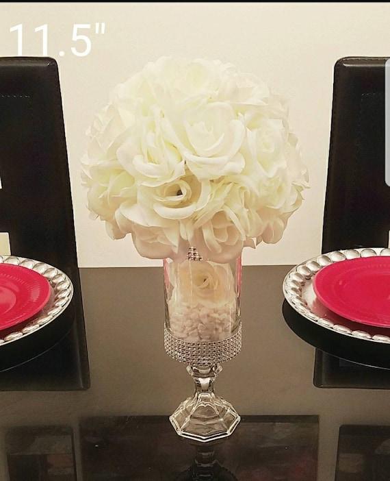 Super 7 5 11 5 13 15 5 And 17 Centerpiece Vase Cylinder Vase Rhinestone Vase Candle Holder Wedding Quinceanera Candy Buffet Jars Interior Design Ideas Grebswwsoteloinfo