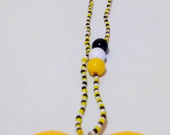 Sun Kissed Yelow Heart Pendant Single Necklace