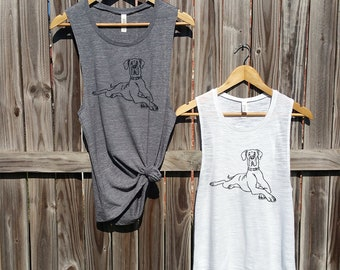 Great dane muscle tank top dog tank top animal tank top