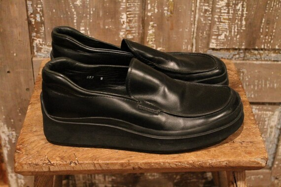 Prada Rubber Sole 1990's Loafers - image 1
