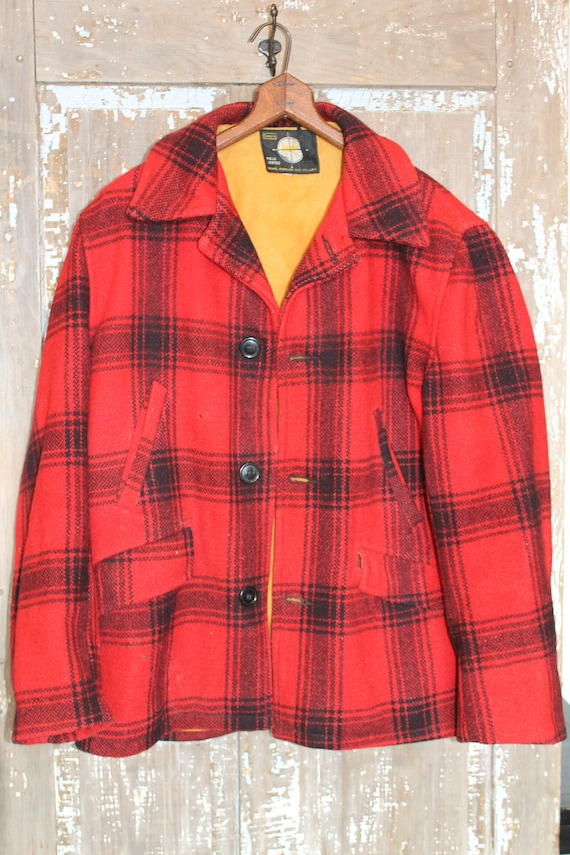Sears Wool Plaid Hunting Jacket Men's Medium