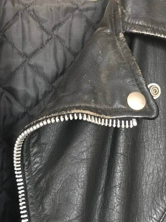 70's  Leather Motorcycle Jacket EXCELLED brand Men