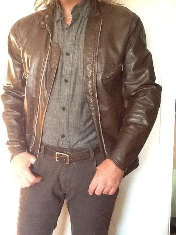 Vintage Schott Leather Motorcycle Jacket