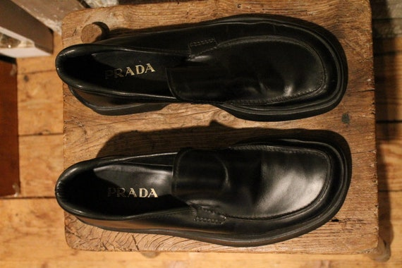 Prada Rubber Sole 1990's Loafers - image 4