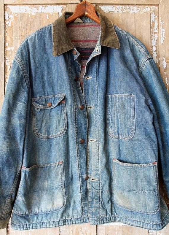 Casey Jones 50's Lined Denim Engineer jacket