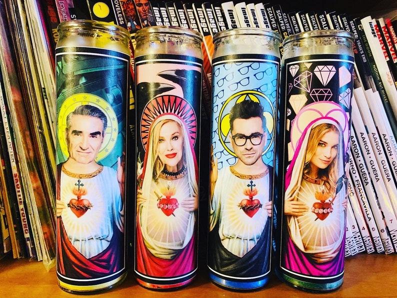 Johnny Rose Rose Family~ Moira Rose David Rose /& Alexis Rose ~ Prayer Candles