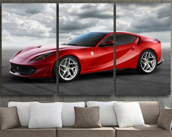 Car & Truck Apparel & Merchandise Ferrari 488 GTB Vinyl Banner Vinyl Print Poster Garage Workshop Sign Wall Art