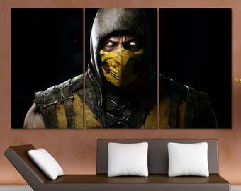 Mortal Kombat Poster Etsy