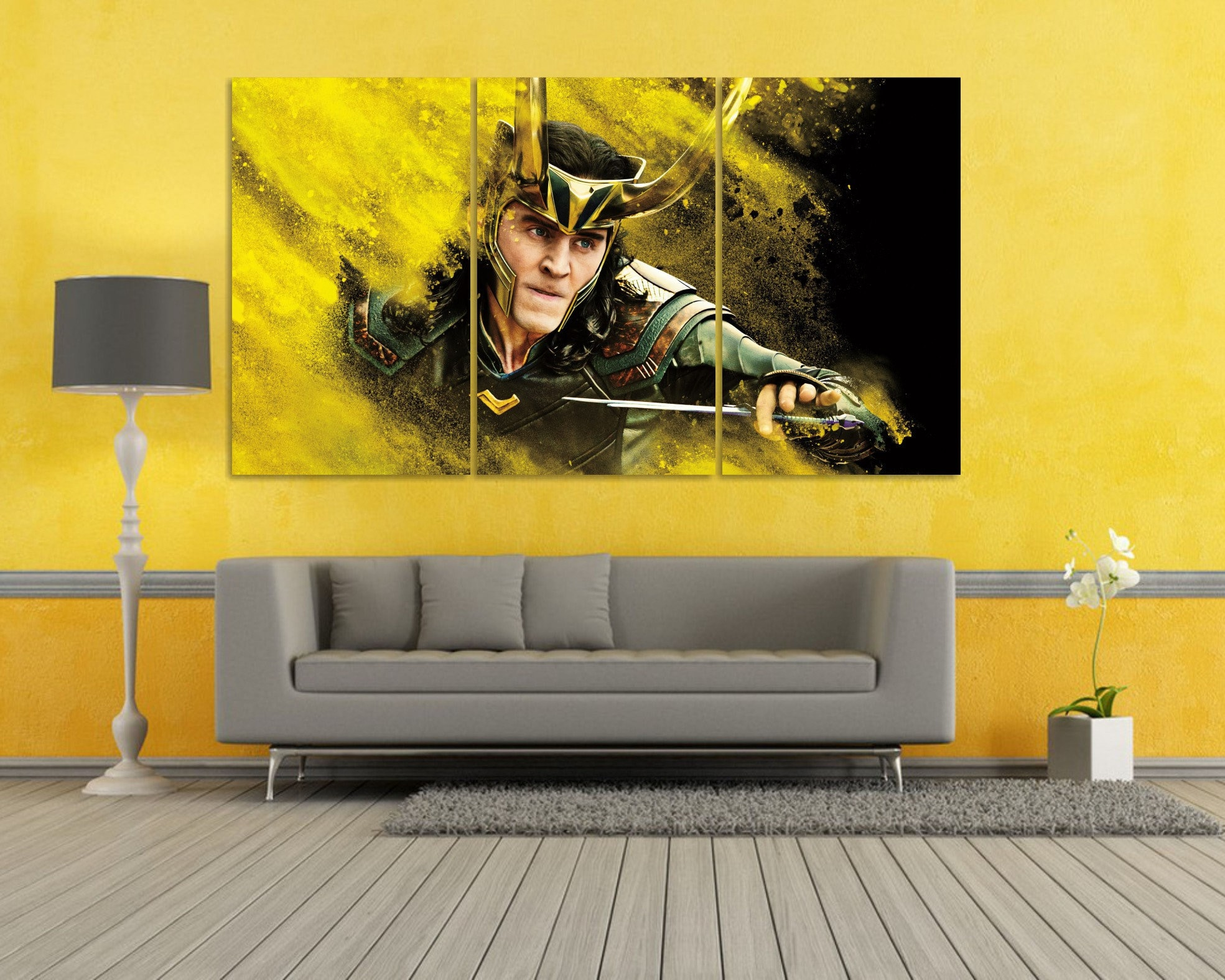 Loki Wall Art Thor Ragnarok Canvas Art Loki Cosplay Loki | Etsy