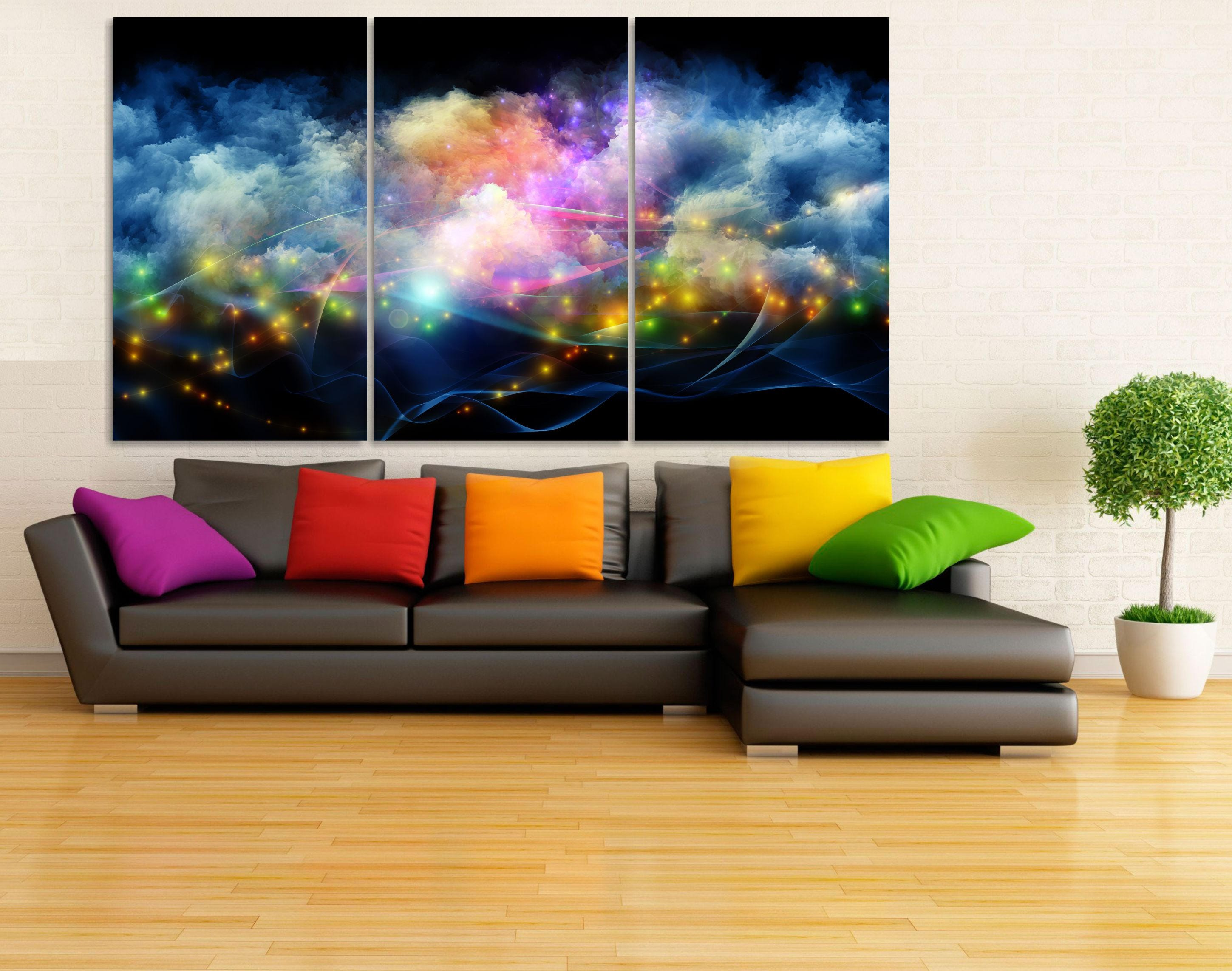 Outer space canvas print outer space wall art large space for Wall decor outer space