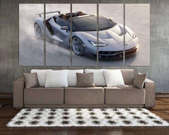 Lamborghini Centenario Roadster Supercar Silver Poster