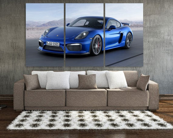 2018 Porsche 911 GT3 Sports Car Vintage Poster Canvas Print Art Decor Wall
