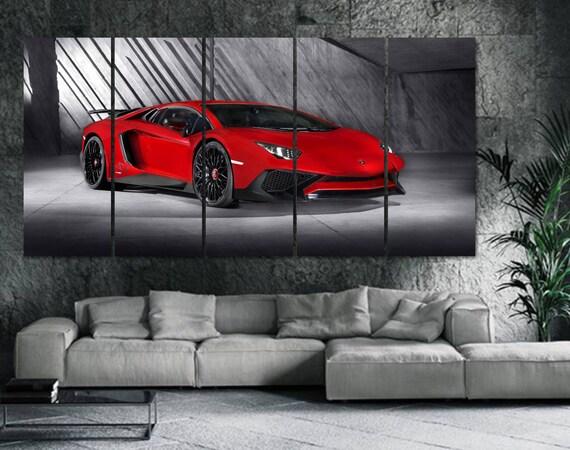 Lamborghini Leinwand Lambo Wandkunst Lamborhgini Poster Etsy