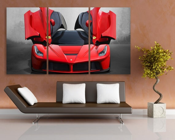 Red Ferrari Canvas Print Ferrari Poster Ferrari Wall Art | Etsy
