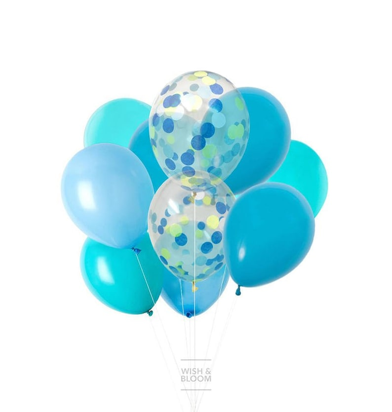 Blue Balloons Mix Party SPLASH Confetti