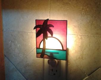 Palm Tree Island Night Light