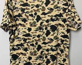 29228b56a6a4 Vintage authentic 90s rare Bathing Ape 1st camouflage