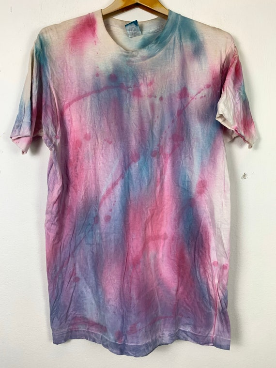 Vintage 90's tye dye t shirt colourfull