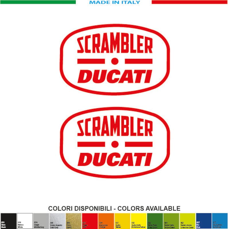 2 Stickers Kit Ducati Italian Icon 2 Mm 100xmm 65 Italy Decals Stickers Aufkleber Pegatinas
