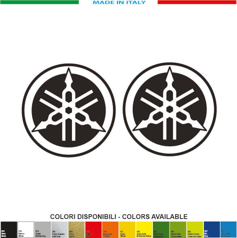 2 Kit Yamaha 1 Mm 50xmm Stimmgabel Logo 50 Decals Aufkleber Sticker Pegatinas V Rossi Motogp Sbk