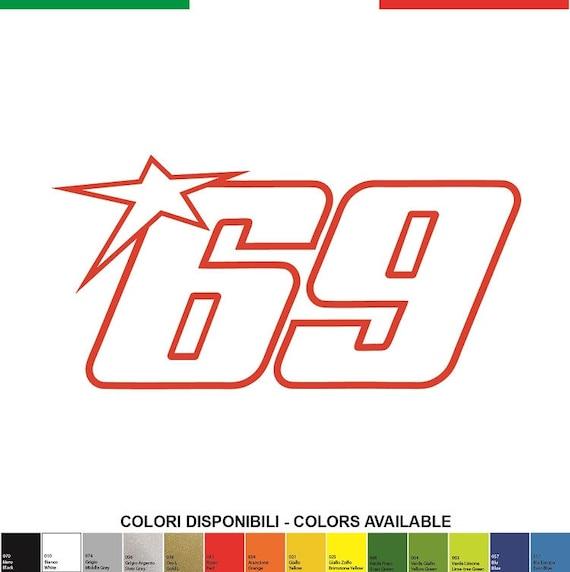 Kit 1 50 Mm 100xmm Nicky Hayden Adhesive Decals Stickers Aufkleber Pegatina Honda Motogp Valentino Rossi 46 Redbull Yamaha Sbk Monster