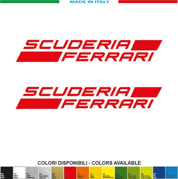 Kit Scuderia Ferrari Aufkleber 2 Mm 200xmm 30 Aufkleber Aufkleber