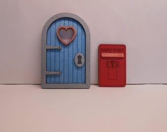 Wooden Fairy / Elf Doors with Fairy Post Box, Handpainted