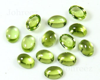 10 Pieces Natural Peridot Oval Gemstone Calibrated Size Good Quality  Gemstone Cabochon Green Peridot Oval Gemstone Cabs