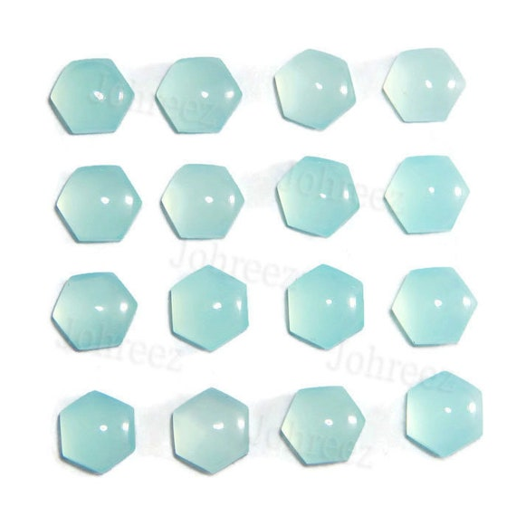 Details about  /Natural Aqua Chalcedony 10X14 mm Octagon Cabochon Loose Gemstone AB01
