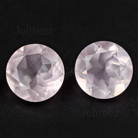 10x10 mm Round Natural Rose Quartz Cabochon Loose Gemstone Wholesale Lot 100 pcs