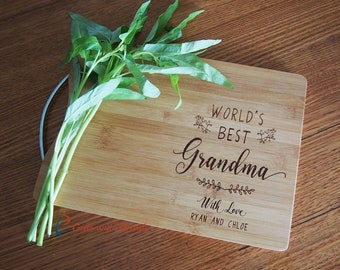 Personalised Engraved Bamboo Rectangular Cutting Board S Handle