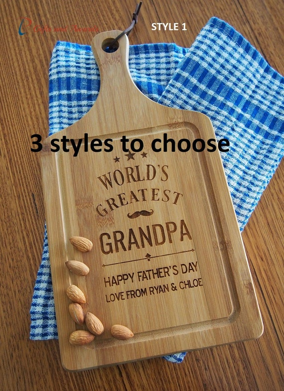 FREE DELIVERY Personalised Engraved Bamboo Paddle Serving