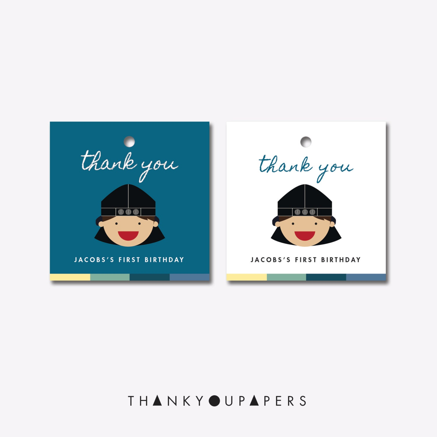 Magnificent korean first birthday invitations ideas invitations doljanchi thank you party favor tag korean first birthday filmwisefo