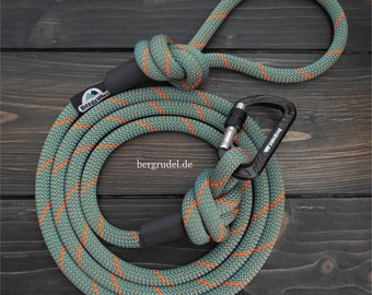 Dog leash made of climbing rope, leash Aventure Green with safety carabiner