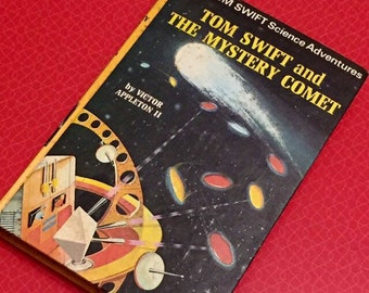 Tom Swift/1970s Vintage Sci Fi book/Vintage Childrens book/1970s science fiction/ Tom Swift and The Mystery Comet/Childrens hardback book/gc