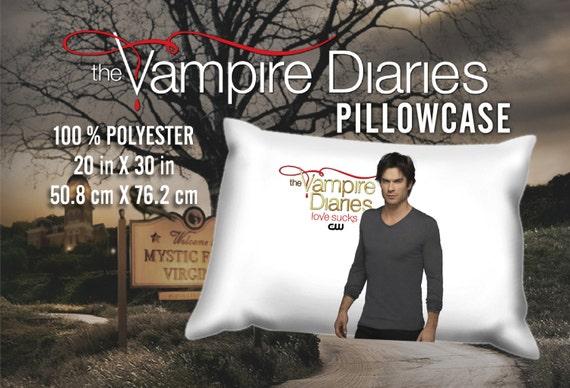 The Vampire Diaries Damon Salvatore Ian Somerhalder Pillowcase