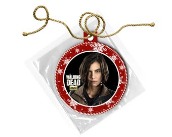 The Walking Dead Maggie Greene Rhee Lauren Cohen Christmas Ornament