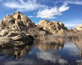 Award winning photo of Barker Dam, Joshua Tree