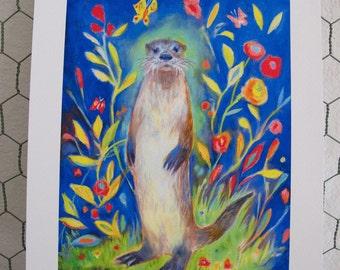 River Otter Print