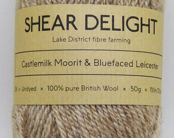 Castlemilk Moorit x Bluefaced Leicester - Double Knit 100% British Wool