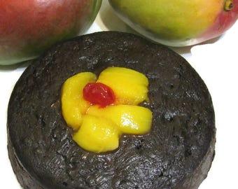 Mango Cherry Fruit Cake, Jamaican Rum Cakes or Black Cakes, Edible, Sweet Caribbean Treat
