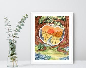 Fantasy Gateway Illustration - Fine Art Print - Fantasy Art Print